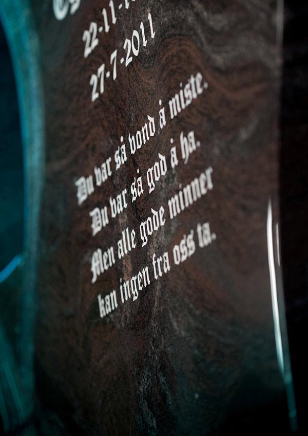 Forslag til minneord på gravstein